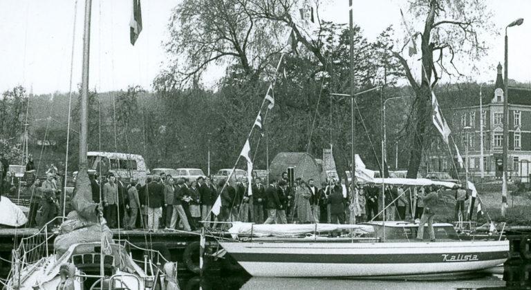 Chrzest jachtu Kalisia. Szczecin, Marina Gocław 1979